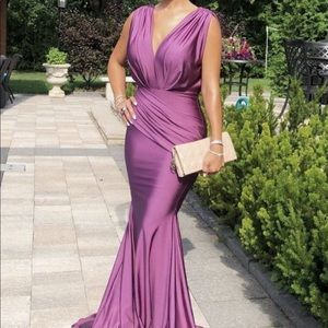 Jessica Angel dusty rose gorgeous gown